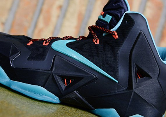 best sneakers 11cdd 7ff5a Nike LeBron 11 Black Diffused Jade Light Crimson Jade Glaze Another Look
