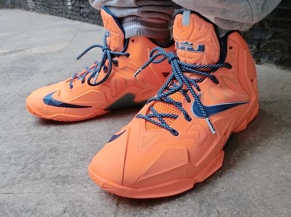 Nike LeBron 11 Blue Orange