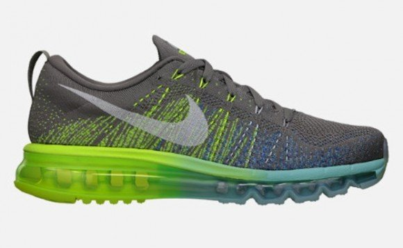 62df7325e2a86 Nike Women s Flyknit Air Max -Light Charcoal Sail-Volt Glacier Ice ...