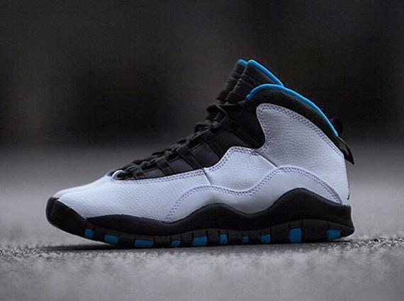 Air Jordan 10 Powder Blue Detailed Look