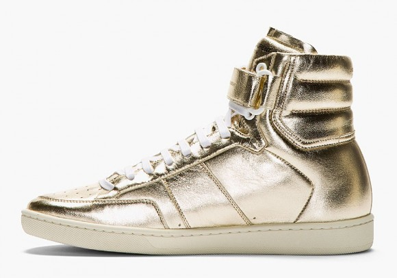 saint-laurent-gold-lame-leather-high-top-sneaker