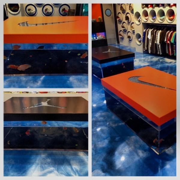 Sneaker Box Fish Tank Benches at Sneaker Aquarium ...