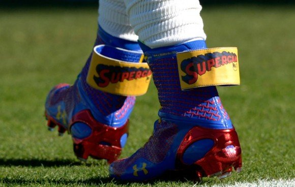 Cam Newton's Super Cam Under Armour ClutchFit Highlight Cleats