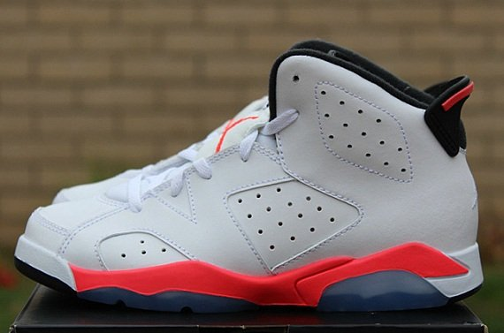 "a27a28065b6467 Air Jordan 6 Retro PS (Pre School) ""White Infrared"""