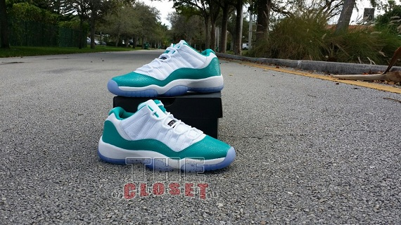 Air Jordan 11 Retro Low GS Aqua - Detailed Pictures
