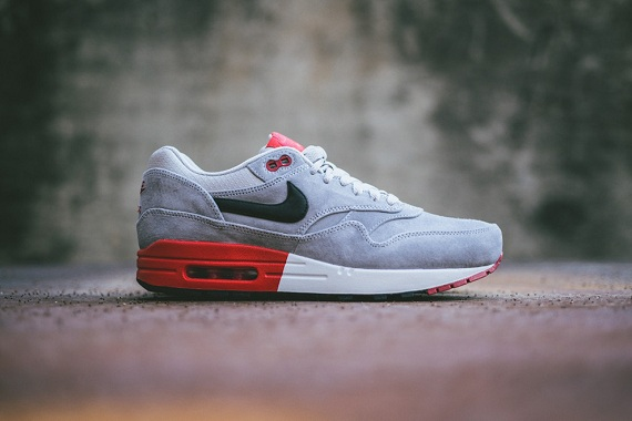 Nike Air Max 1 Premium Grey Suede leoncamier.co.uk