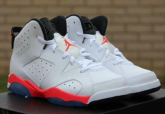 d7717494060b7d ... clearance air jordan 6 retro ps pre school white infrared 18856 1933b