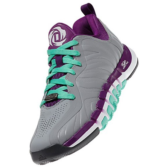 detailed look e736d 6a7ad adidas D Rose Englewood 2 0 Grey Purple Mint Available Now delicate