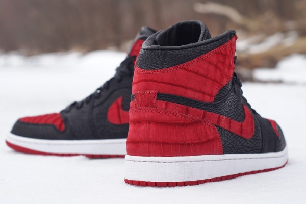Air Jordan 1 Crocodile + Shark Bred Custom
