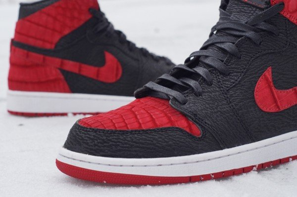 Air Jordan 1  Crocodile + Shark  Bred Custom  43b40906e