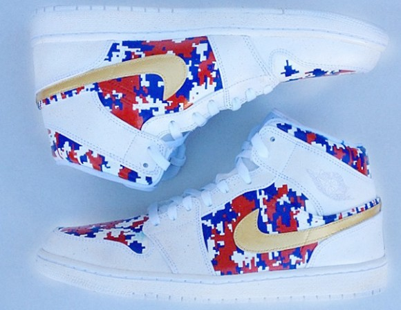 Air Jordan 1 Mid Gold Medal by Have Air Customs