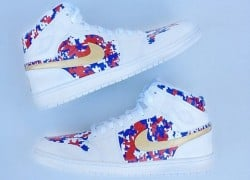"Air Jordan 1 Mid ""Gold Medal"" by Have Air Customs"