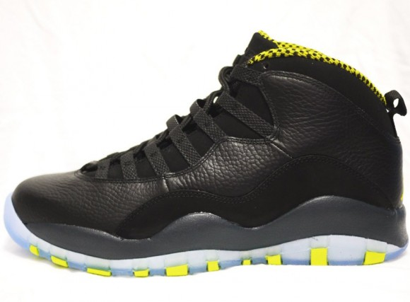 Air Jordan 10 Retro Venom Green Another Detailed Look