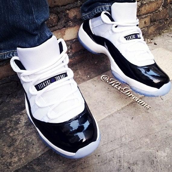 Air Jordan 11 Low Concord On-foot Look