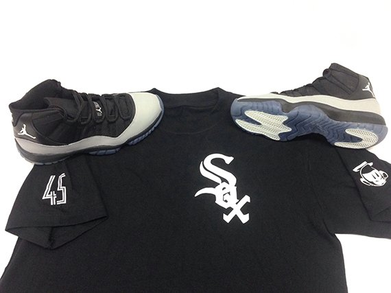 Air Jordan 11 Chicago White Sox Customs by Sole Swap