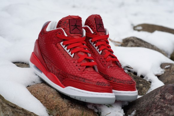 Air Jordan 3 Valentines by JBF Customs