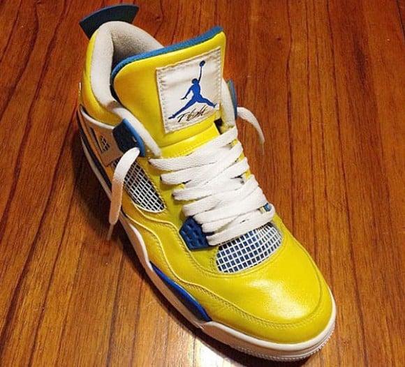"""Warriors X Air Jordan 1: Air Jordan IV (4) """"Golden State Warriors"""" Customs By"""
