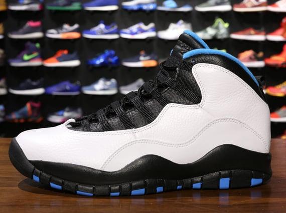 Air Jordan X (10)  White Dark Powder Blue-Black   23090ef94
