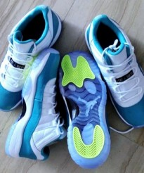 Air Jordan XI (11) Low GS 'White/Aqua-Volt' | New Images