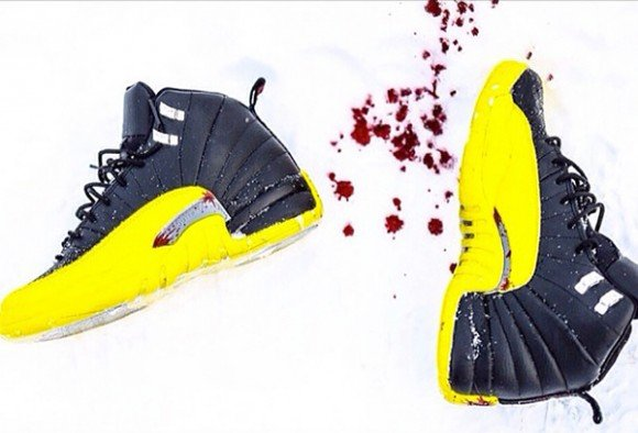 Air Jordan XII (12) Kill Bill Customs by Gaby Alvarado