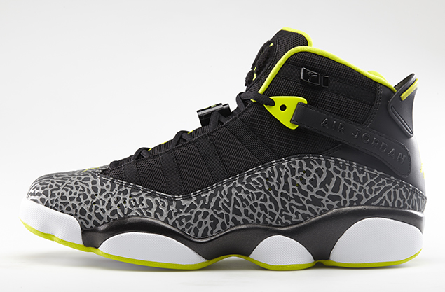 Jordan 6 Rings Black Venom Green-White Cement Grey Official Images