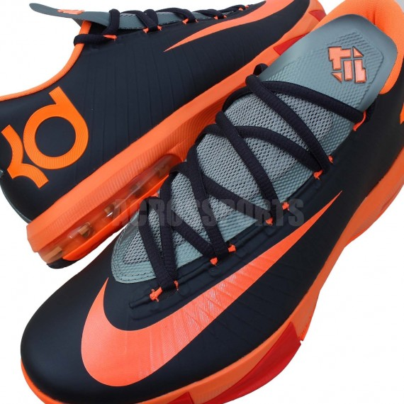 Nike KD 6 Anthracite Total Orange Mica Green Detailed Look