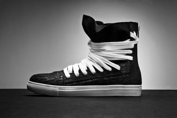 KRISVANASSCHE Spring Summer 2014 Multi-Lace Hightop Sneakers