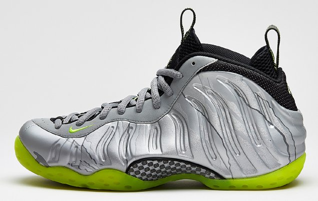 Nike Air Foamposite One Metallic Silver Volt Black Metallic Cool Grey Official Images