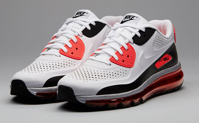nike air max '90 2014 white/white-infrared-black