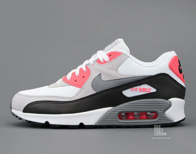 nike air max 90 white grey black