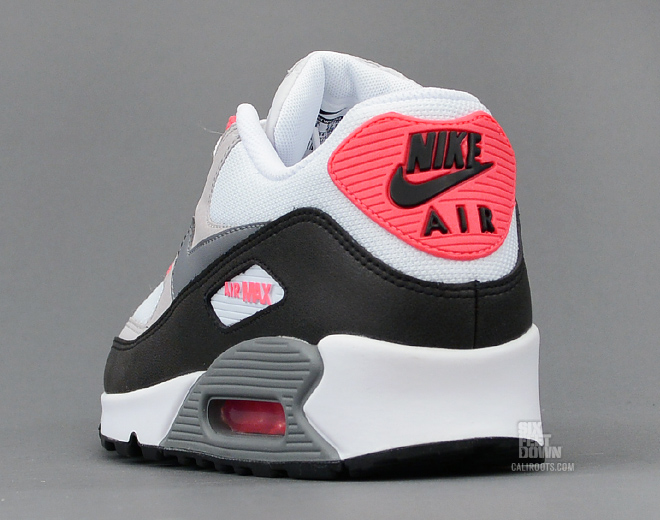 Nike Air Max 90 Blanco / Neutral / Negro / Gris Fresco Gris vCARnS