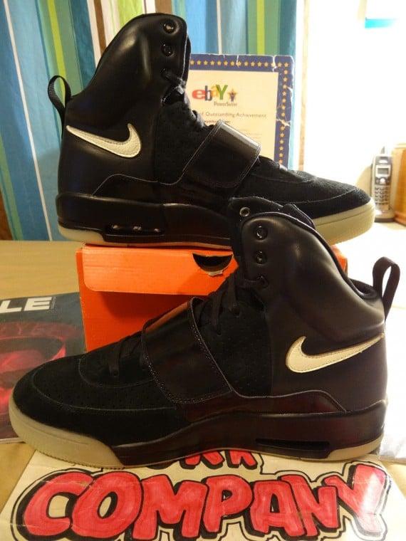 Nike Air Yeezy Black/Black Sample on eBay