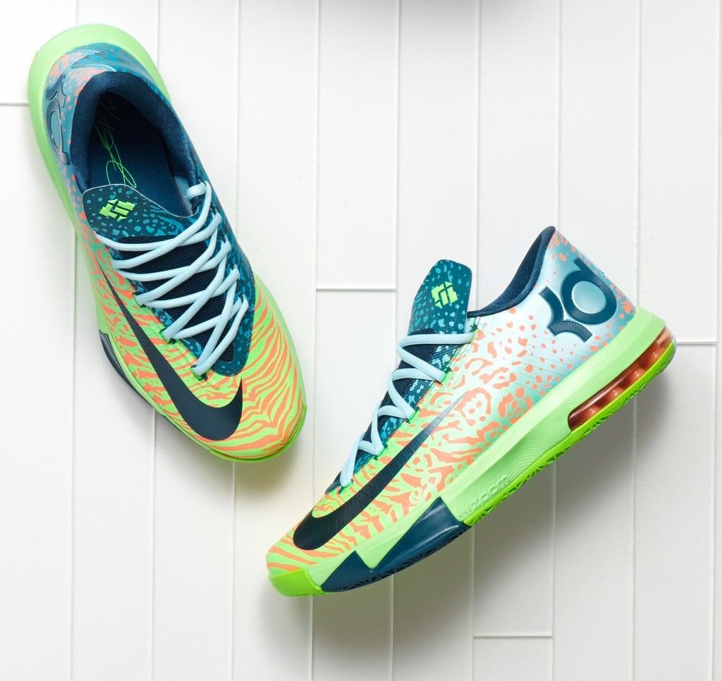 Nike KD VI (6) 'Electric Green/Night Factor-Atomic Orange ...