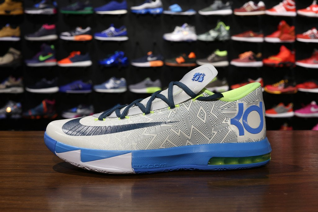 855748e30380 Nike KD VI (6)  Pure Platinum Night Factor-Vivid Blue-Volt ...