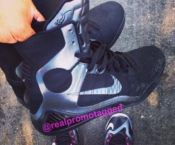Nike Kobe 9 Elite Black Silver Sample