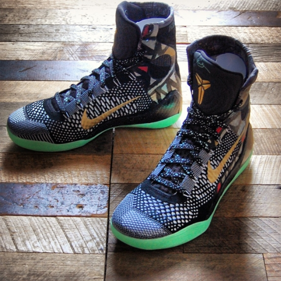 Nike Kobe 9 Elite Nola Gumbo Glow Customs by Gourmet Kickz
