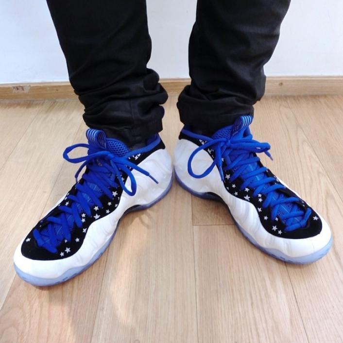 Nike Air Foamposite One Shooting Stars On Foot Images