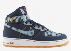Release Reminder: Nike Air Force 1 High Denim 'Midnight Navy/Midnight Navy-Gum Medium Brown'