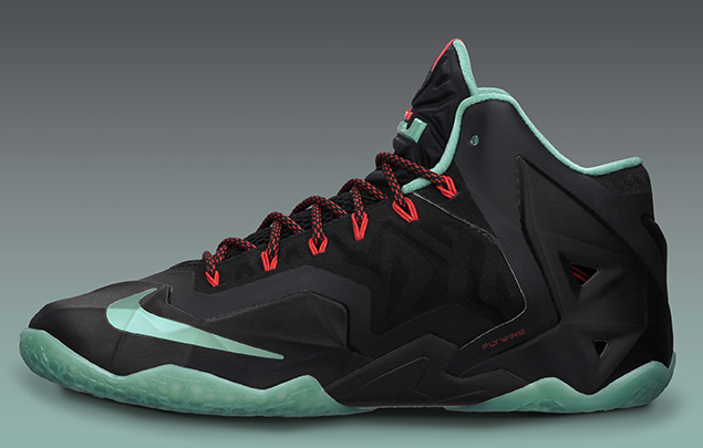 Release Reminder: Nike LeBron XI (11) Black Diffused Jade Light Crimson Jade Glaze