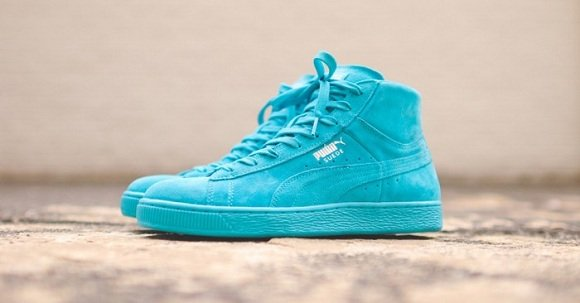 blue suede puma high tops