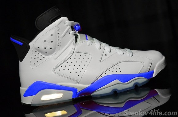 Air Jordan 6 Sport Blue Detailed Look