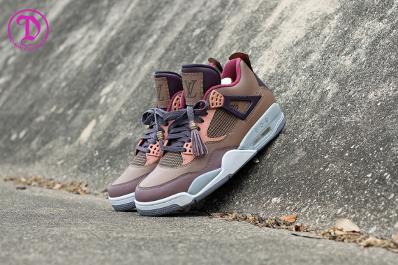 Air Jordan IV Patchwork Louis Vuitton Don Customs By Dank Customs