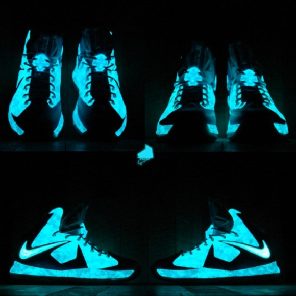Nike LeBron X Chill Blue Camo Customs by Gourmet Kickz