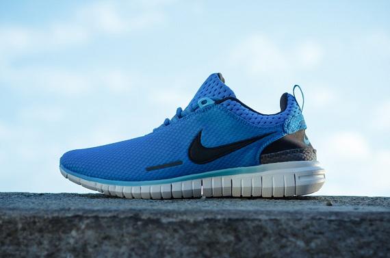 Nike Free OG Breathe Navy Blue Green Men's Running Sports, Nike