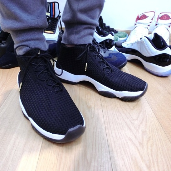 Jordan Future Black White On-Foot Look