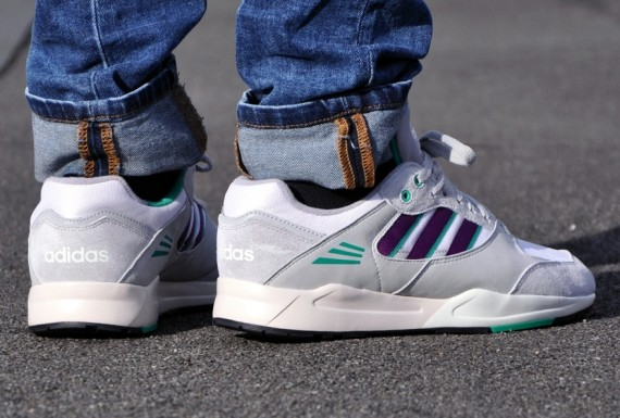 adidas Tech Super Running White Tribe Purple Aluminum