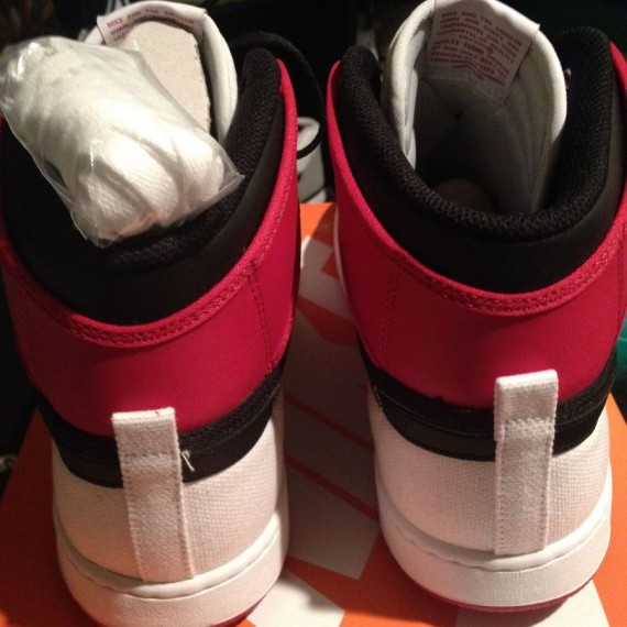 Air Jordan 1 Retro KO High White Black Gym Red Another Look