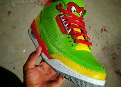 "Air Jordan III (3) ""Ninja Turtles"" Customs by Kickstradomis"