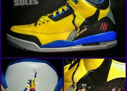 "Air Jordan III (3) ""Wolverine"" Customs by Sal (of Artistic Soles)"