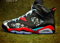 "Air Jordan VI (6) ""Aloha"" Customs by Kickstradomis"